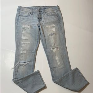 American eagle Ripped skinny jeans size 4 -122